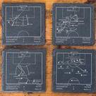 Greatest Southampton Plays: Slate Coasters (Set of 4)