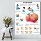 WANGART Mother Breastfeeding Chart Anatomical Charts Posters Canvas Poster Wall Pictures for Medical Education Office Home Decor