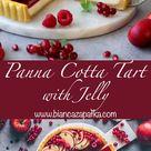 Vegan Panna Cotta Tart with Jelly