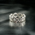 Diamond Infinity Rings
