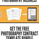 Free Photography Contract Template Bundle