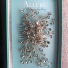Swarovski Crystal Comb, Large Wedding Hair Comb, Handmade Wedding Comb, Crystal Bridal Comb, Flora Crystal Hair Comb