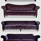 Purple leather sofas, purple leather Chesterfield, purple couches, purple velvet tufted sofa