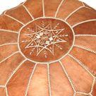 Genuine moroccan ottoman Authentic Moroccan ottoman leather   Etsy