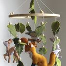 Woodland Baby mobile  - Animals mobile - Forest baby mobile - Nature nursery decor - Crib mobile baby girl - hanging mobile boy
