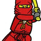 LEGO Ninjago Kai machine embroidery design