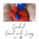 2 in 1 halloween crochet heart and lungs pattern pdf | Etsy