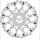 Mandala Halloween coloring page