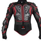 Motorcycle Jacket Racing Full Body Armor Protector ATV Motocross Body Protection Jacket, Shorts, Gloves, Knee pads, Gear - Red / L