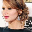Jennifer Lawrence hairstyles in black dress