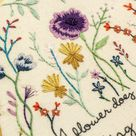 Just Bloom Flower Embroidery   The Femme Bohemain