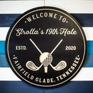 Personalized Golf Sign Personalized Golf Decor Golf Wall   Etsy