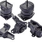 ENA Engine Motor Trans Mount Set of 5 Compatible with Honda Acura 1998 1999 2000 2001 2002 Accord 3.0L 1999 2000 2001 2002 2003 TL 3.2L Replacement for A6592 A6552 A4507 A6582 A6579 - Black