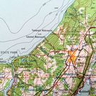 Antique Hancock, Michigan 1961 US Geological Survey Topographic Map - Houghton, Laurium, Hubbell, Calumet, Lake Superior Minnesota Canada MI