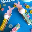 Bunny Clothespin Easter Craft Using Paint Samples - Crafty Morning