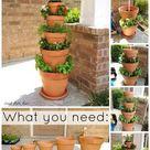 16 Sparkling DIY Clay Pot Ideas for the Garden