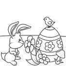 Osterhase liebt Blumen zum ausdrucken