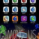 Among Us iOS 14 App Icons, IOS14 Among Us Aesthetic Home Screen, Among Us iPhone IOS14 Theme
