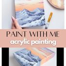 Acrylic Painting on Small Canvas 'Snowy Mountain' | Winter Lanscape | Art Tutorial | Painting Video
