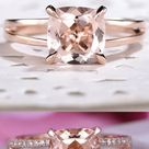Which set do you prefer? Morganite Engagement RIng-Cocktail Ring-Morganite Promise Ring
