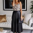 Updated! 39 Ways To Style The Pleated Skirt Like A Certified Style Raven
