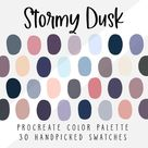 Stormy Dusk Procreate Color Palette Color Swatches Ipad   Etsy