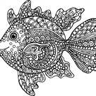Exotic Fish Coloring Page - KidsPressMagazine.com