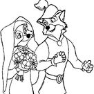 Robin Hood Wedding Day Coloring Pages