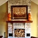 White Washed Fireplace