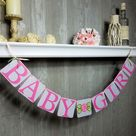 Baby Girl Banner, Baby Shower, Baby Sprinkle, Drive by Baby Shower Banner, Pink, Gray, Grey