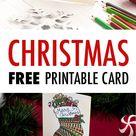 Free Christmas Card | Printable Template (Coloring Page Christmas Card)