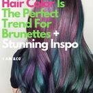 Oil Slick Hair Is The Perfect Hair Color Trend For Brunettes