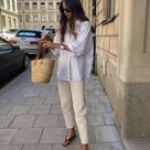 9 Ways to Wear a White Button Down Shirt : Spring Edition