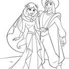 Walt Disney Characters Photo: Walt Disney Coloring Pages - Princess Jasmine & Prince Aladdin