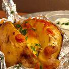 Gefüllte Speck und Käse Ofenkartoffel mit Sour Cream   Zu Faul Zum Kochen
