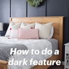 How to do a dark feature wall