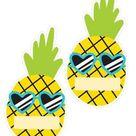Neon Pop - Pineapple EDITABLE Name Tag Cutouts {UPRINT}