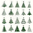 Christmas Tree Collection Royalty free vector graphics.