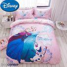 100% Cotton Twill Disney Frozen Anna Elsa Princess Twin Queen Duvet Cover Bedding Set - Style6 / Full-Queen