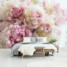 Vlies Fototapete  Blumen VINTAGE Pfingstrose Päonie Rose Blumenmus Wohnnzimer 92  | eBay