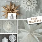 DIY: zarte Weihnachtssterne aus Papiertüten