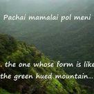 Pachai mamalai pol -- Tamil Paasuram with English Meanings -- Bombay Jayashri