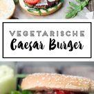 Vegetarischer Caesar-Burger mit Kidneybohnen-Patties