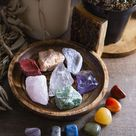 Raw Healing Crystals and Tumbled Chakra Stones - 14 piece Chakra Kit With Tumbled Stones - The Ultim