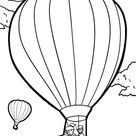 Malvorlage Heißluftballon | Fliegen - Kostenlose Ausmalbilder