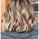 ash brown hair balayage short