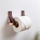 Toilet Paper Holder Kit [Flag End] - Mahogany / Birch / Steel