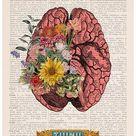 Wall decor Brain Flower Art  Nature Anatomy  Anatomy   Etsy