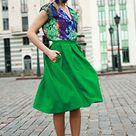 Plus Size Skirt, Pleated Skirt, Green Skirt, Casual Skirt, Boho Midi Skirt, Gift Skirt, High Waisted Skirt, Fashion Skirt, Women Skirt
