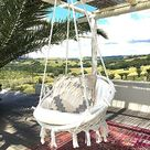 Sonyabecca Hammock Chair Macrame Swing 265 Pound Capacity Handmade Knitted Hanging Swing Chair for Indoor/Outdoor Home Patio Deck Yard Garden Reading Leisure Lounging (Not Included Cushion or Pillow) - 60*80 Hanging Chair